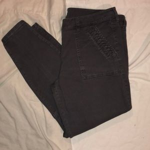 Loft 14 modern skinny ankle grey jeans